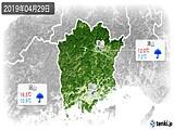 2019年04月29日の岡山県の実況天気