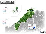 2019年05月01日の島根県の実況天気