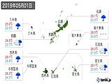 2019年05月01日の沖縄県の実況天気