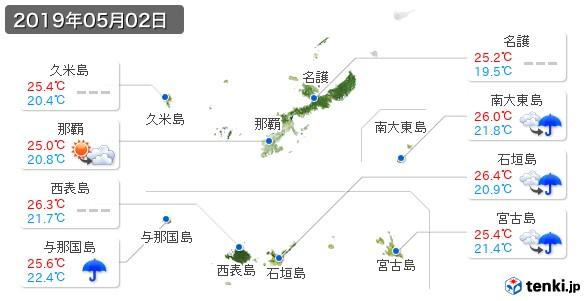 沖縄県(2019年05月02日の天気