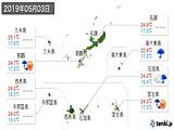 2019年05月03日の沖縄県の実況天気