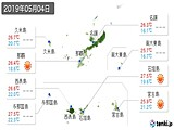 2019年05月04日の沖縄県の実況天気