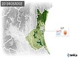 2019年05月05日の茨城県の実況天気