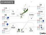 2019年05月07日の沖縄県の実況天気