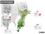 2019年05月09日の千葉県の実況天気