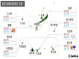 2019年05月11日の沖縄県の実況天気