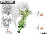 2019年05月12日の千葉県の実況天気