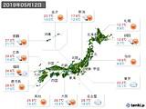 2019年05月12日の実況天気
