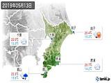 2019年05月13日の千葉県の実況天気