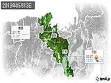 2019年05月13日の京都府の実況天気