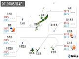 2019年05月14日の沖縄県の実況天気