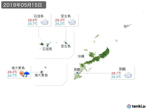 沖縄地方(2019年05月15日の天気
