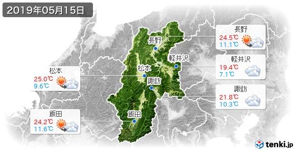 長野県(2019年05月15日の天気