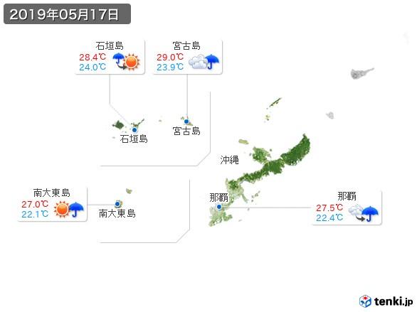 沖縄地方(2019年05月17日の天気