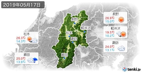 長野県(2019年05月17日の天気