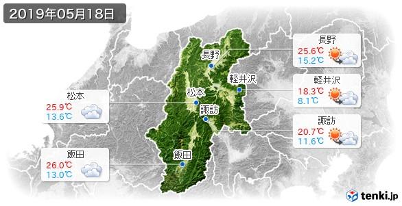 長野県(2019年05月18日の天気