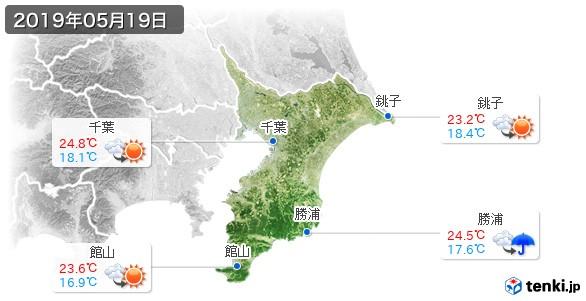 千葉県(2019年05月19日の天気