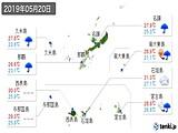 2019年05月20日の沖縄県の実況天気