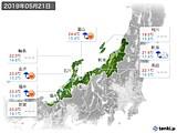 2019年05月21日の北陸地方の実況天気