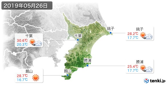 千葉県(2019年05月26日の天気