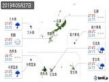 2019年05月27日の沖縄県の実況天気