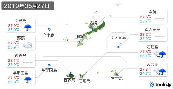 沖縄県(2019年05月27日の天気