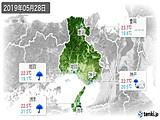 2019年05月28日の兵庫県の実況天気