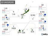 2019年05月29日の沖縄県の実況天気