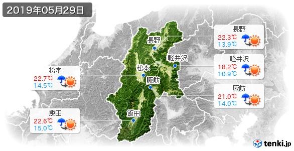 長野県(2019年05月29日の天気