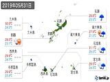 2019年05月31日の沖縄県の実況天気
