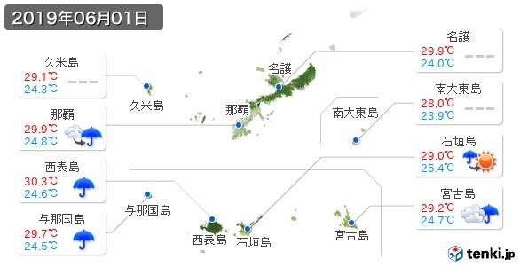 沖縄県(2019年06月01日の天気