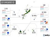 実況天気(2019年06月01日)