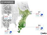 2019年06月02日の千葉県の実況天気