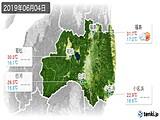 2019年06月04日の福島県の実況天気