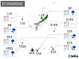 2019年06月04日の沖縄県の実況天気