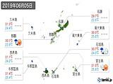 2019年06月05日の沖縄県の実況天気