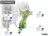 2019年06月07日の千葉県の実況天気
