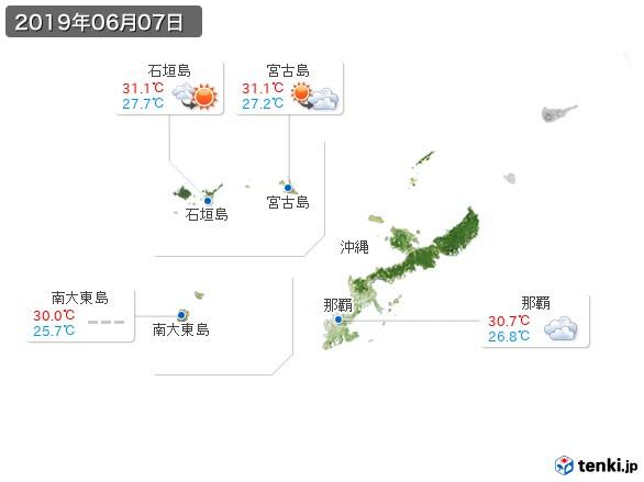 沖縄地方(2019年06月07日の天気