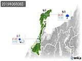 2019年06月08日の石川県の実況天気