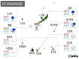 2019年06月08日の沖縄県の実況天気
