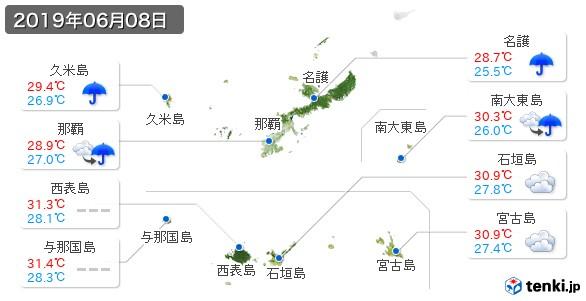 沖縄県(2019年06月08日の天気