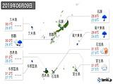 2019年06月09日の沖縄県の実況天気