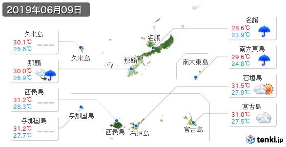 沖縄県(2019年06月09日の天気