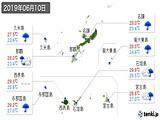 2019年06月10日の沖縄県の実況天気
