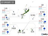 2019年06月11日の沖縄県の実況天気