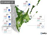 2019年06月12日の道東の実況天気