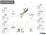 2019年06月12日の沖縄県の実況天気