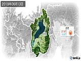 2019年06月13日の滋賀県の実況天気