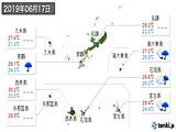 2019年06月17日の沖縄県の実況天気