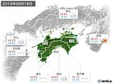 2019年06月18日の四国地方の実況天気